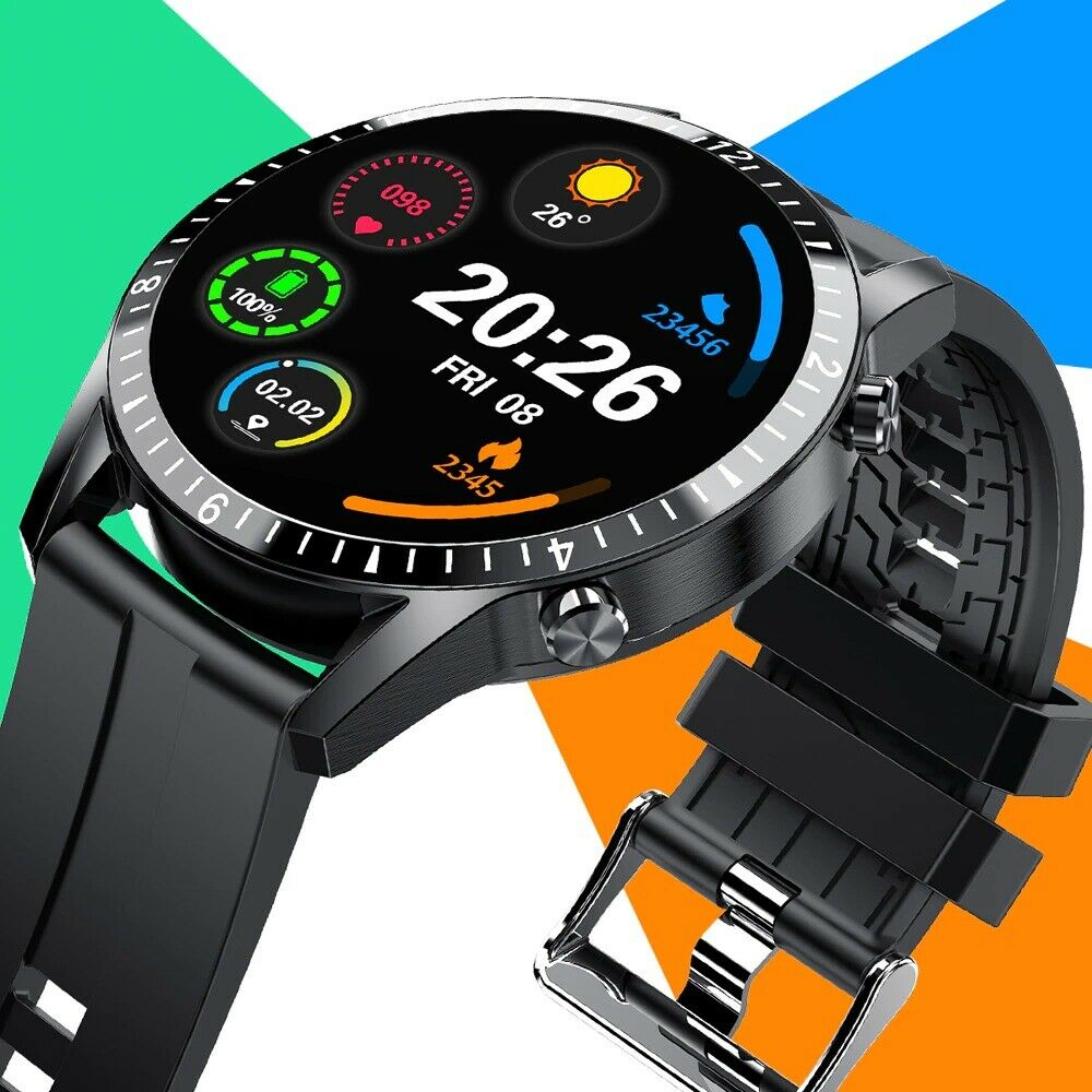 New Men 2021 Women Smartwatch for IOS Android Fitness Tracker Heart Rate Monitor