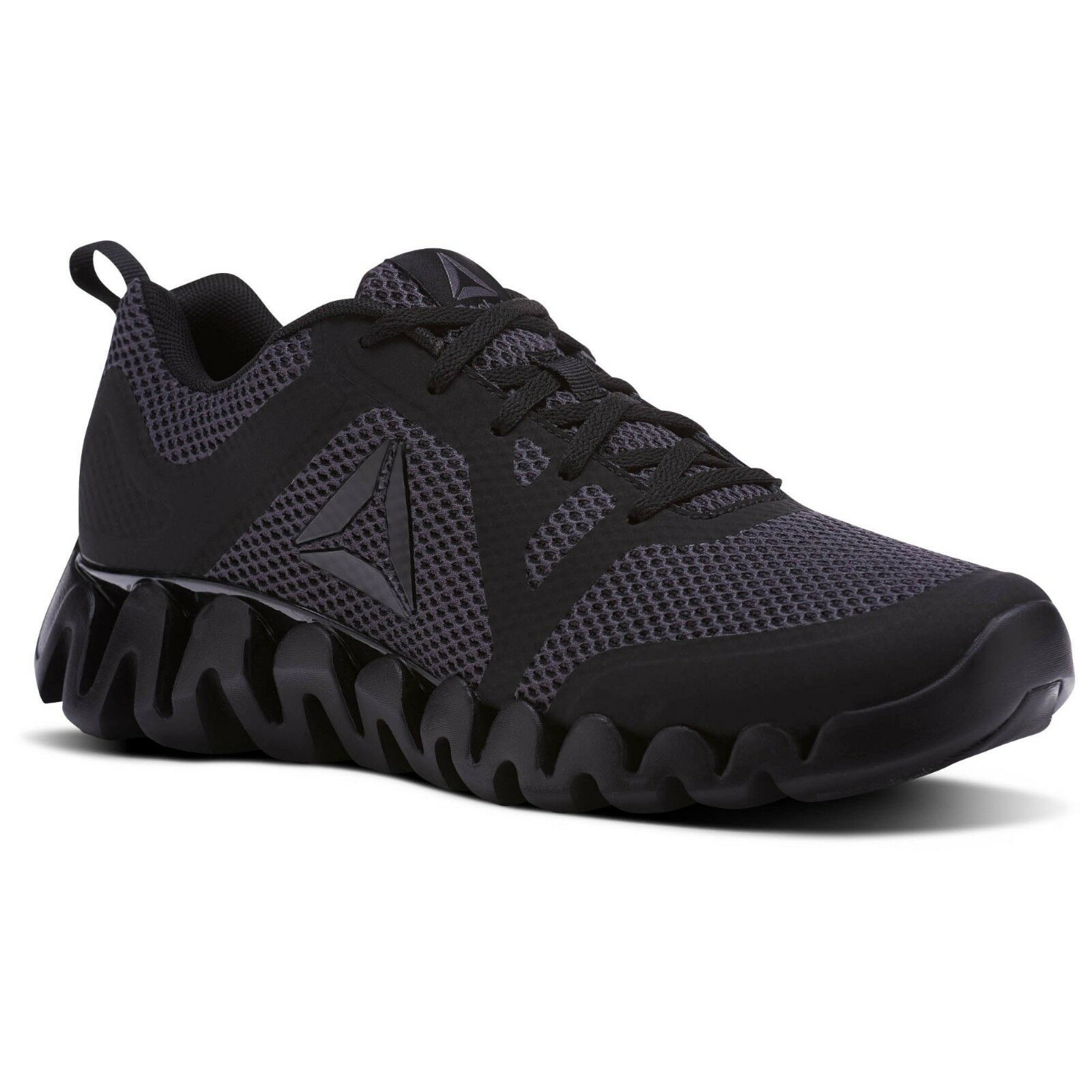 Reebok Zig Evolution 2.0 hommes noir / Ash Gris Running Chaussures CM9857 All Sizes