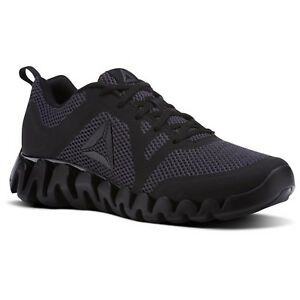 c5b4f4a1625fb Reebok Zig Evolution 2.0 Mens Black   Ash Grey Running Shoes CM9857 ...