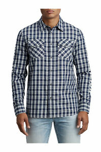 True-Religion-Men-039-s-Hype-TR-Utility-Front-Button-Long-Sleeve-Shirt-in-Indigo-Sky