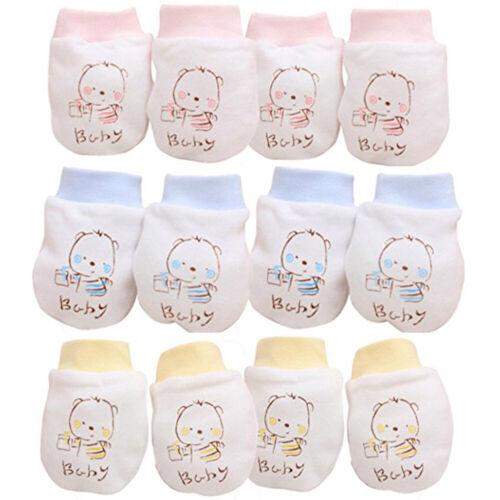 HN 2 Pairs Newborn Boy Girl Infant Cotton Handguard Anti Scratch Mittens Gloves