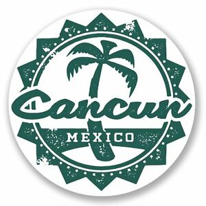 2-x-Cancun-Mexico-Vinyl-Sticker-Laptop-Travel-Luggage-Car-5099