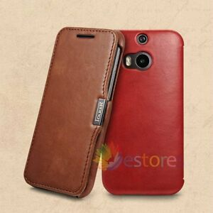 ICARER-Genuine-Premium-Leather-Wallet-Flip-Luxury-Case-Cover-Skin-For-HTC-One-M8