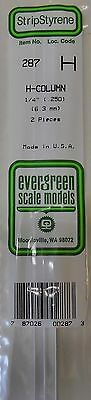 "Umoristico Evergreen Strip Styrene 287. 2 Pieces 1/4"" H Column"