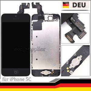 Fuer-iPhone-5C-Display-LCD-Vormontiert-mit-Ersatz-Glas-Bildschirm-Front-Schwarz