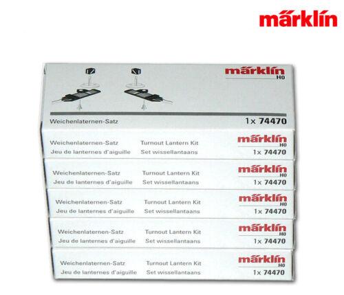 5x 2 Stück in OVP Märklin 74470-05 C-Gleis Weichenlaternensatz