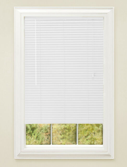 vinyl window blinds white achim home furnishings 1inch wide window blinds 26 by 64inch white shades tr