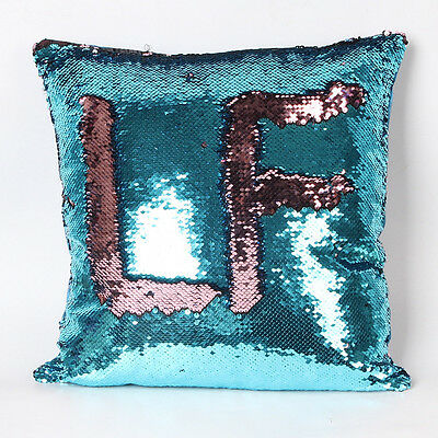 Double Color Glitter Sequins Sofa Throw Pillow Case Home Decor Cushion Covers