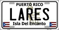 Lares Puerto Rico Novelty State Background Metal License Plate