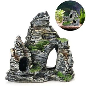 Mountain-View-Aquarium-Rock-Cave-Tree-Bridge-Fish-Tank-Ornament-Rockery-Decor