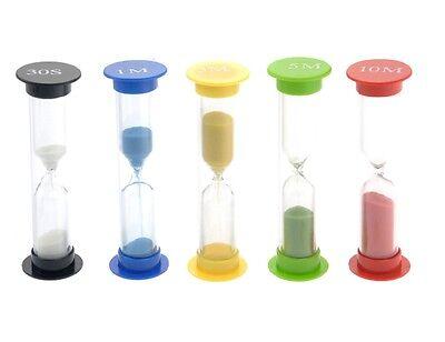 6 Sable Oeuf Minuterie Minutes Enseignement Jeux Sablier Minuterie Deuxième Set