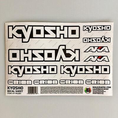 Decalcomanie Team Adesivo Kyosho Ky-mg001 #703492 Sapore Aromatico