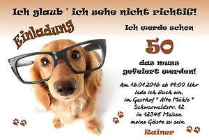 50 tierische Einladungskarten Hund Geburtstag jedes Alter ...