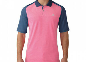 best sneakers 74652 c4e3d Image is loading Adidas-Aeroknit-Polo-M-AF0325-University-Pink