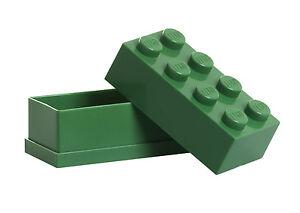 LEGO Storage MINI Snackbox 8 GRÜN perfeckt in Brotdose Schule Lunchbox GREEN