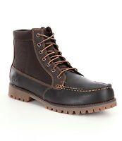 Men's Timberland Oakwell 7-Eye Moc Toe Boots, 6821A Brown/Brown Sizes 7-8 NIB