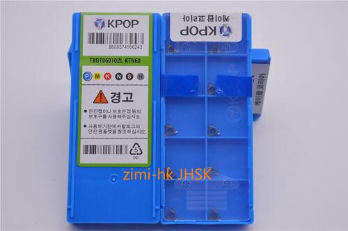 10pcs Original authentic TBGT060102L KTN60  Metal ceramic Fine boring blade