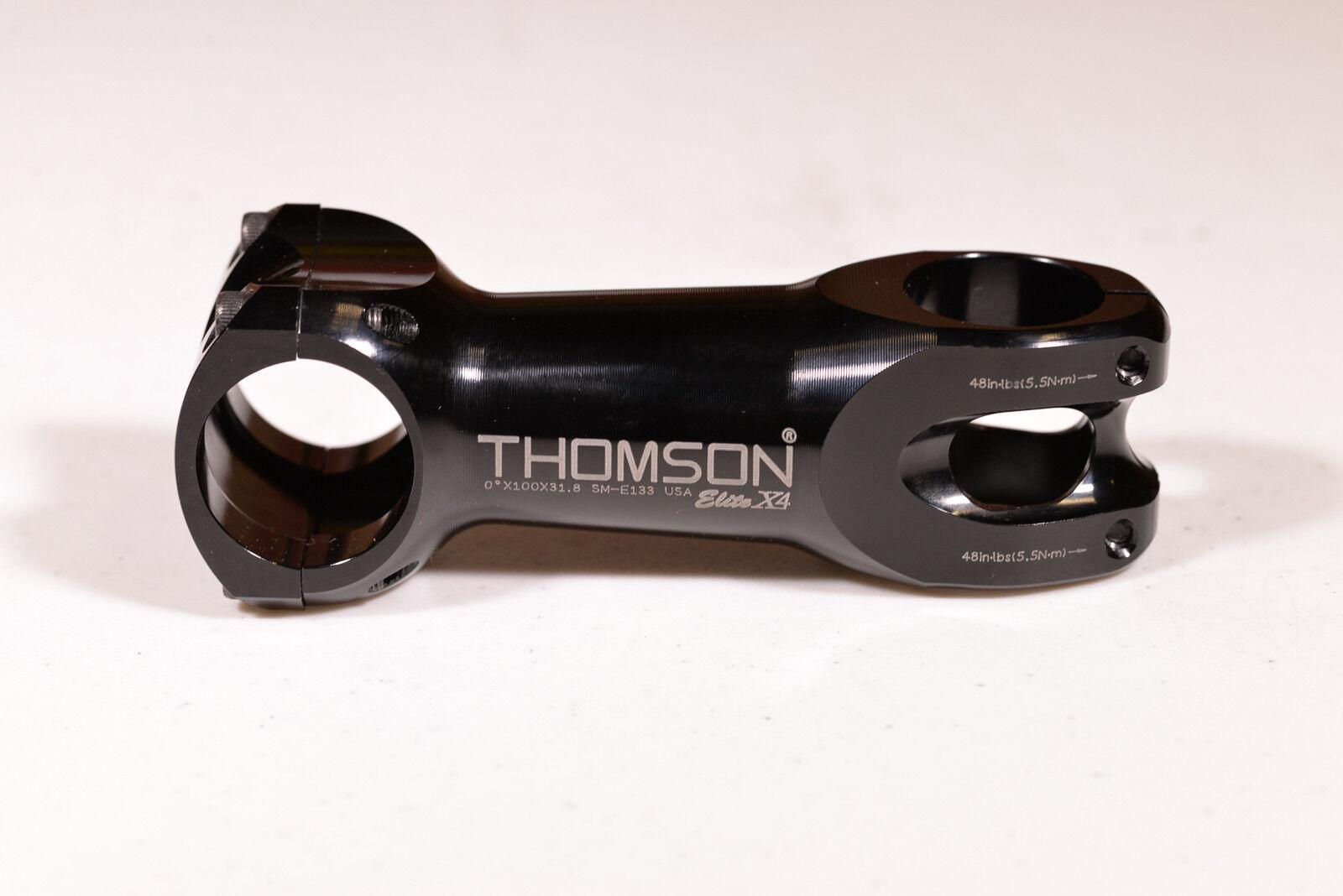 Thomson Elite X4 0 x100x31.8 Alloy Stem
