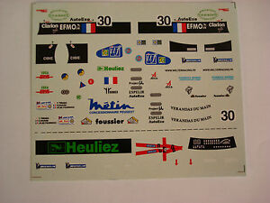 DECALS-KIT-1-43-WR-PEUGEOT-TEAM-WALTER-RACING-LE-MANS-2001-N-30-DECALS