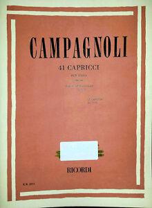 Bartolomeo Campagnoli, 41 Capricci Per Viola Op. 22, Ed. Ricordi, 2008