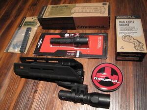 Fits-Remington-870-Forend-Surefire-G2X-Flashlight-Mount-w-5-034-Rail-BLACK