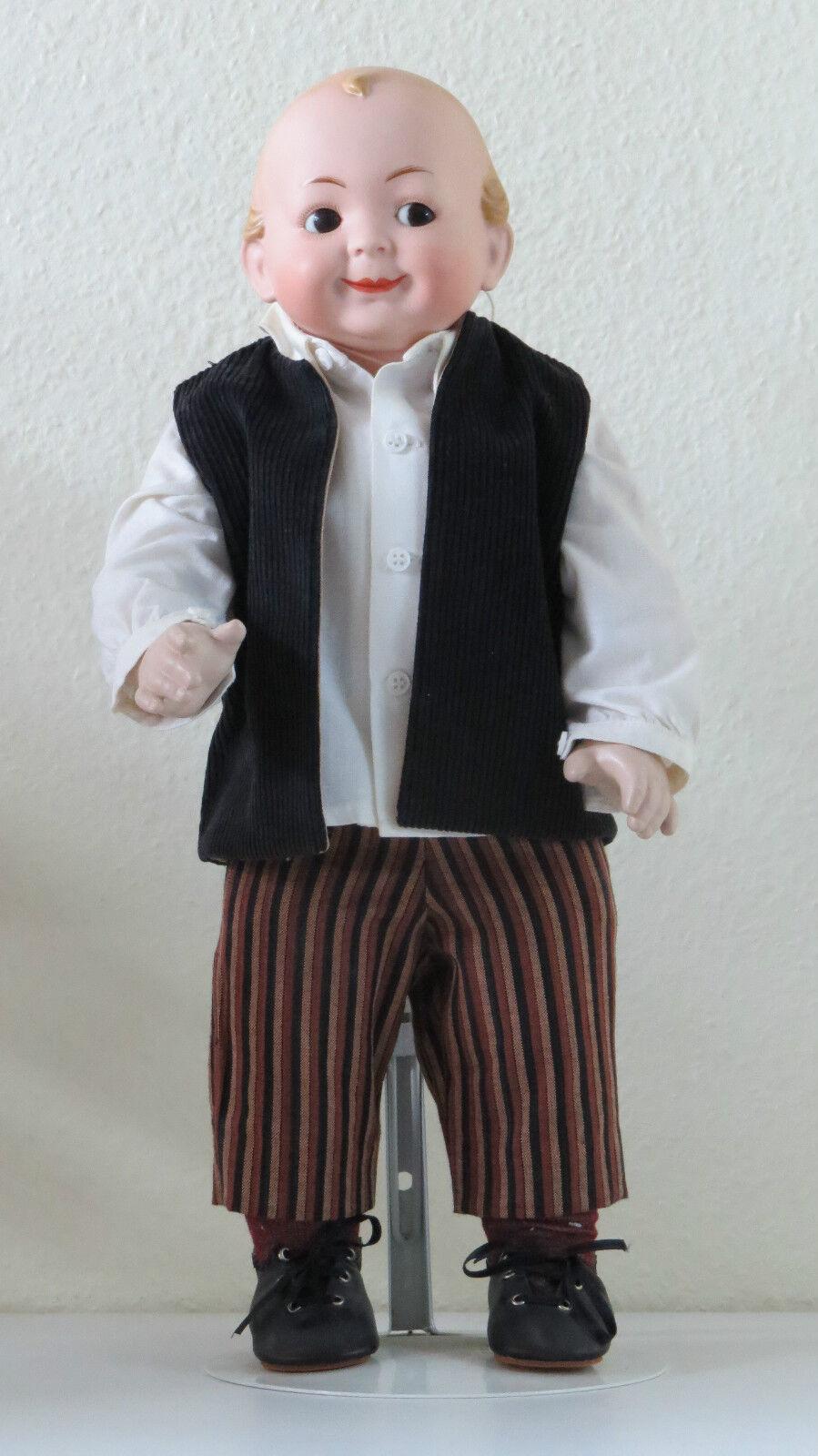 Hertel, Scwab & Co 42 cm 19,3 Inch Muñeca Antigua Reproducción Antique doll