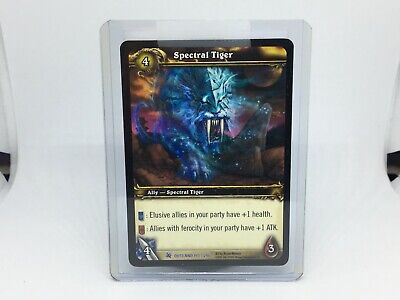 World of Warcraft WOW TCG Spectral Tiger Loot card Scratched Fires of Outland