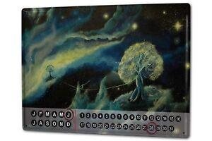 Dauer-Wand-Kalender-Fantasie-Bild-Motiv-Krakowski-Seiltaenzer-Metall-Magnet