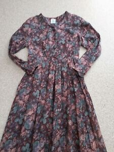 Vintage-Laura-Ashley-Wool-Blend-Tea-Dress-UK-14-EU-40-US-12