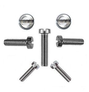 10-pz-VITI-CILINDRICHE-M-taglio-1-6-mm-DIN-84-1-6-x-12-V2A-Professionale