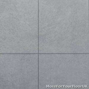 Image Is Loading Light Grey Tile Style Vinyl Flooring Kitchen Bathroom