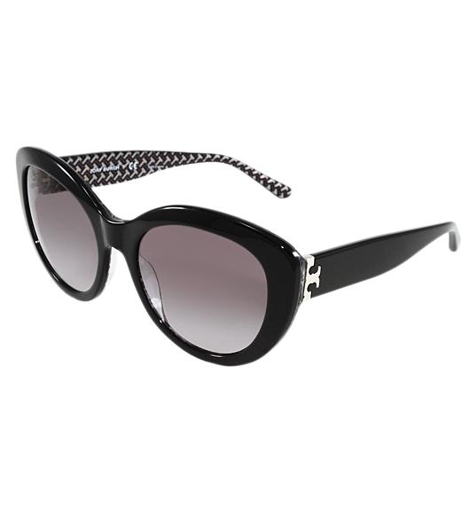 853f35f793ee Tory Burch Women's TY7121 55 Mm Cat Eye Fashion Sunglasses OCTAGON Square  Print