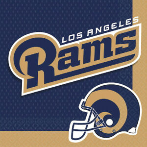 NFL LOS ANGELES RAMS LUNCH NAPKINS 16 Birthday Party Supplies