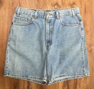 c03d2c40 Vtg 90s Levis Mens 550 Relaxed Fit Denim Shorts 100% Cotton Size 36 ...