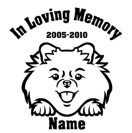 In Loving Memory Pomeranian Peeking with Name car window decal
