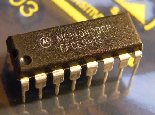 10x MC14040BCP 12-Stage Ripple Carry Binary Counter Motorola
