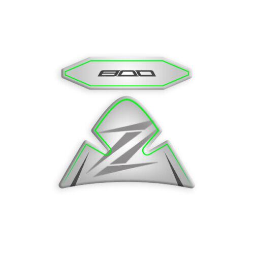 ADESIVO SUPERIORE TAPPO KAWASAKI Z 800 P-Z800 White Green PROTEZIONE PIASTRA