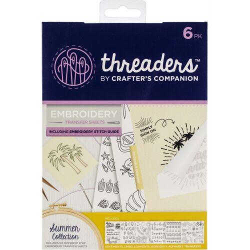 Crafter/'s Companion enfile broderie transfert Sheets-Collection été