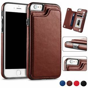 Leather-Wallet-Case-For-Apple-iPhone-8-7-Plus-6s-XS-MAX-Magnetic-Card-Slot-Stand