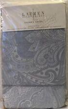 RALPH LAUREN Suite Paisley Pale Blue European Pillow Sham 100% Cotton NEW $142
