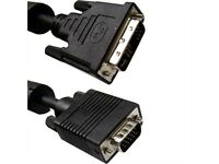 6ft. (6 Feet) Dvi-a Analog Male To Hd-15 Vga Male (12+5 Pin) Dual Link Cable