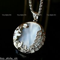 Beautiful White Moonstone Necklace Pendant Opal Unusual Rare Gift For Her Moon