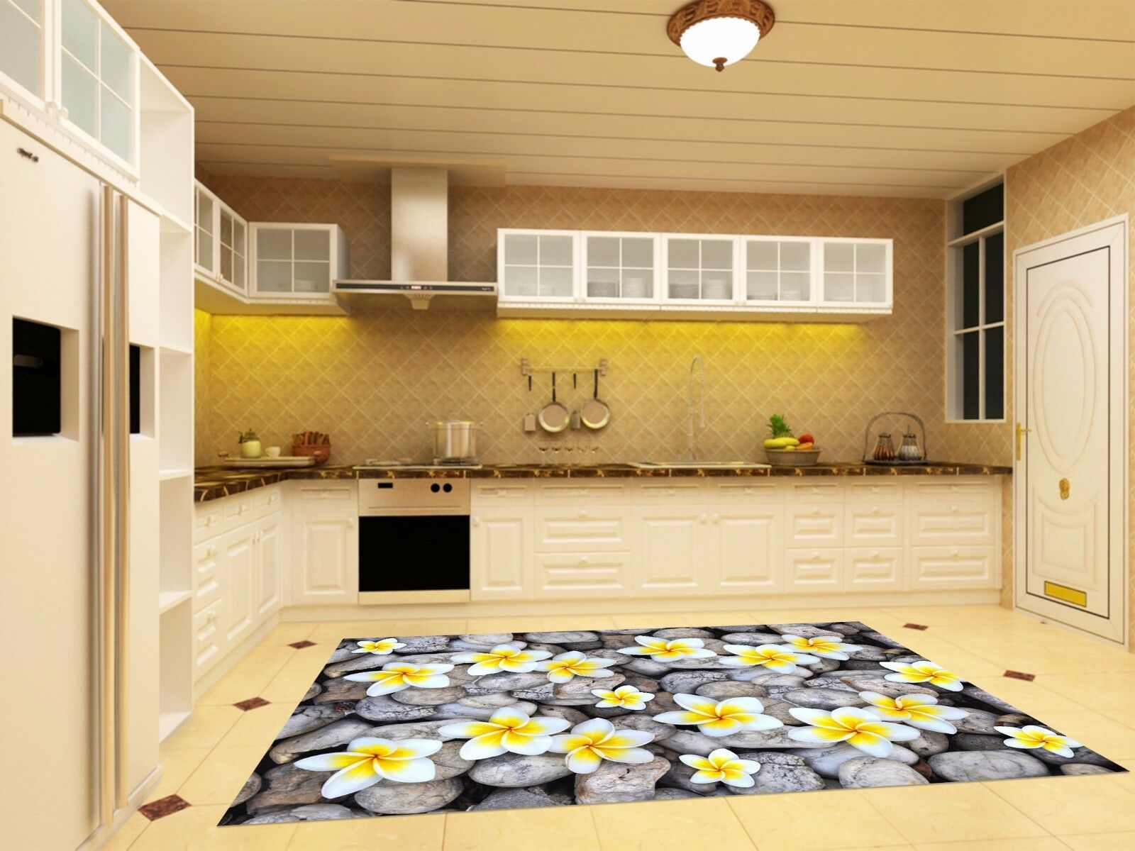 3D Stone Flower 723 Kitchen Mat Floor Murals Wall Print Wall Deco UK Carly