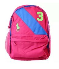 Authentic POLO RALPH LAUREN BIG PONY GIRL MEDIUM SCHOOL BAG BACKPACK SPORT PINK
