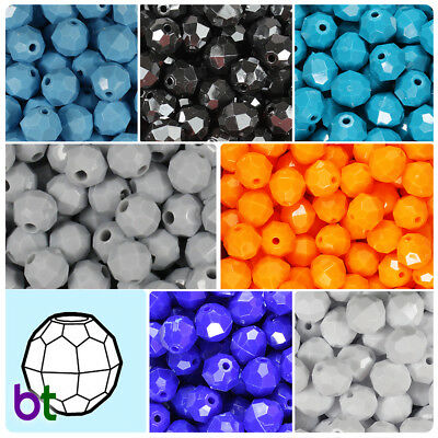 BeadTin Sparkle 4mm Faceted Round Craft Beads Color choice 1250pcs