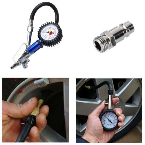 Druckluft-Reifenfüller Satz INKLUSIVE Manometer Tankstellenstecker Ablassknopf