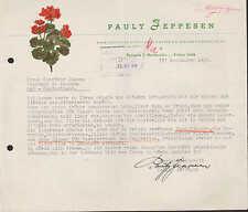 Nørresundby, Brief 1956, Fabrikation af kunstige Blomster, Pauly Jeppesen