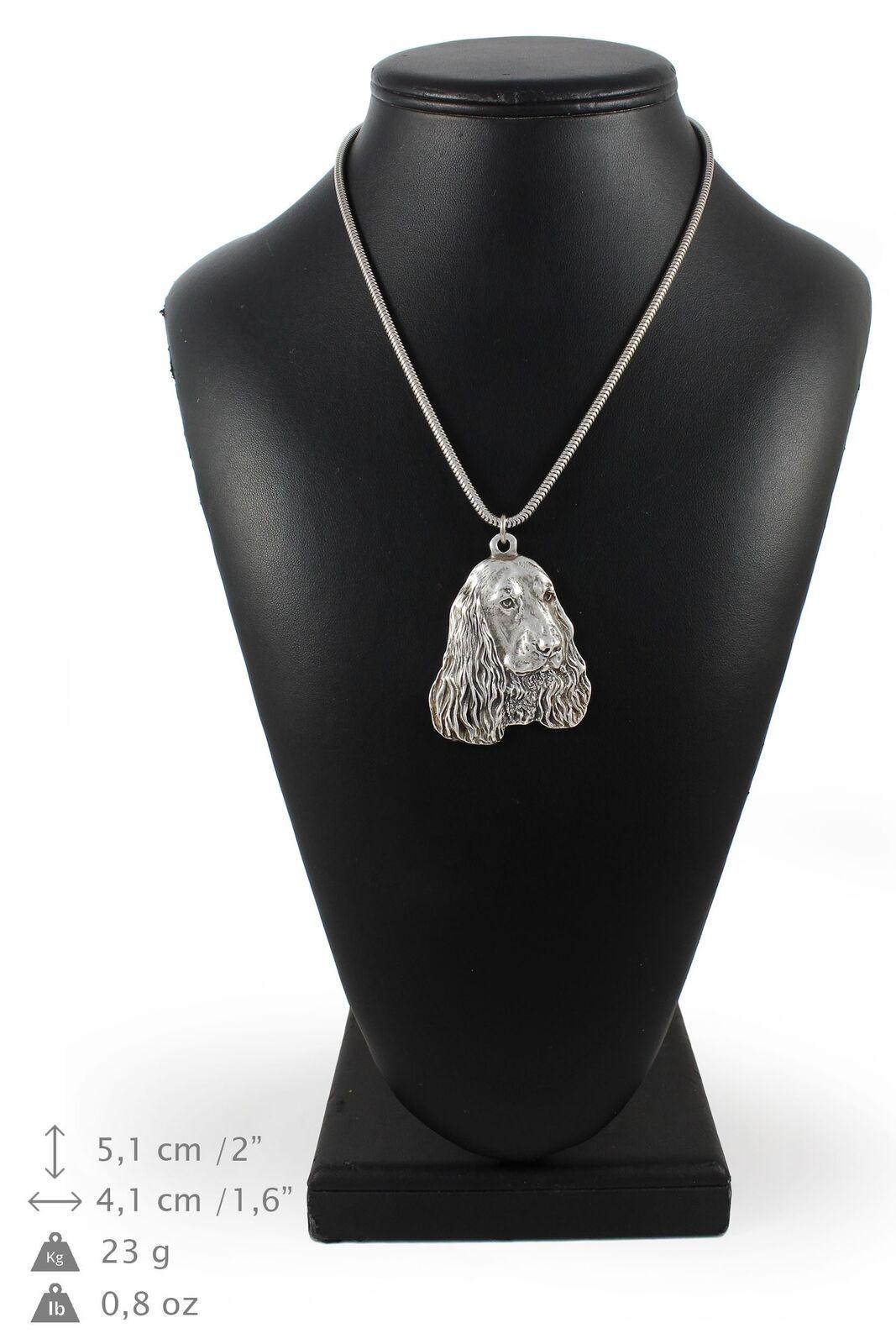 Cocker spaniel - collier en silver plaqué sur une chaîne en silver Art Dog FR