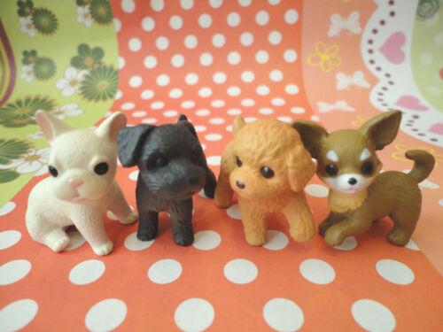 4PCS Toys Decor Miniature Figures Puppy Dog #TM-912