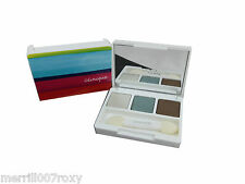 CLINIQUE ALL ABOUT EYE SHADOW TRIO COMPACT 3 SHADES BROWN GREEN BEIGE